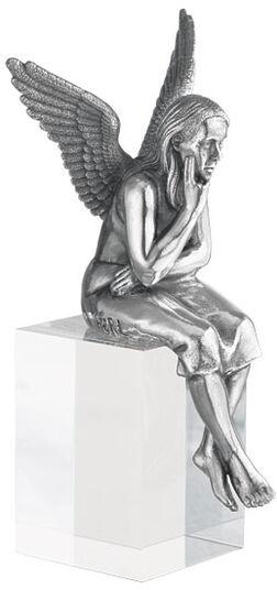 """Ottmar Hörl: Skulptur """"Schutzengel"""", Version versilbert inkl. Sockel"""