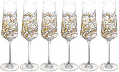 "6 Piece Set Champagne Glasses ""My Charming Garden"""
