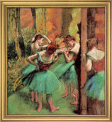"Painting ""Dancers (in rose and green)"", around 1890"