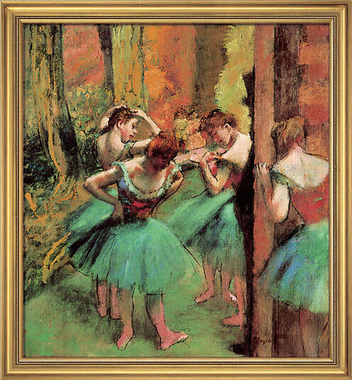 "Edgar Degas: Painting ""Dancers (in rose and green)"", around 1890"