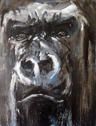 "Ralf Koenemann: Bild ""Gorilla 48"" (2015) (Unikat)"