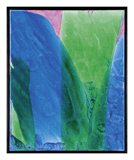 """Willibrord Haas: Bild """"Welle mit grün"""" (1995) (Original / Unikat), gerahmt"""