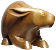 """Skulptur """"Kaninchen"""", Bronze braun"""