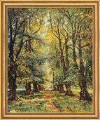 "Picture ""Avenue in the sunshine"" in museum framing"