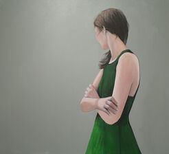 "Bild ""Grünes Kleid"" (2014) (Unikat)"
