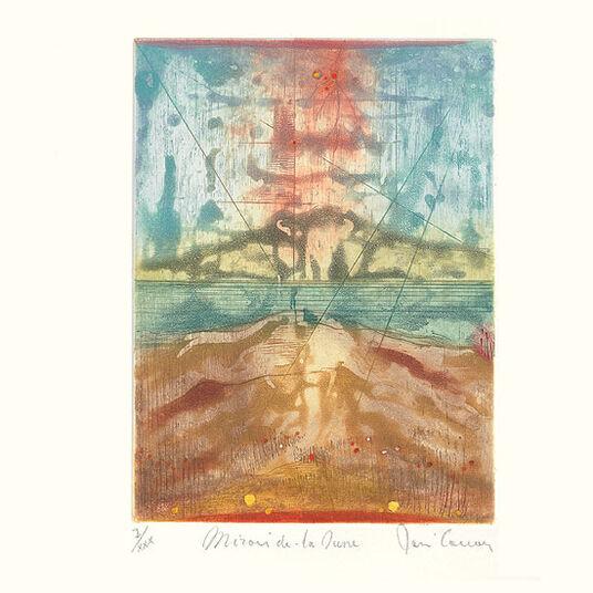 """René Carcan: Bild """"Miroir dans la dune"""" (1984), ungerahmt"""