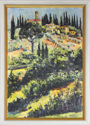 "Painting ""Toscana"", Framed"