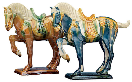 Two Tang horses in set
