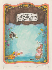 "Bild ""Ohne Titel"" (1970er) (Unikat)"