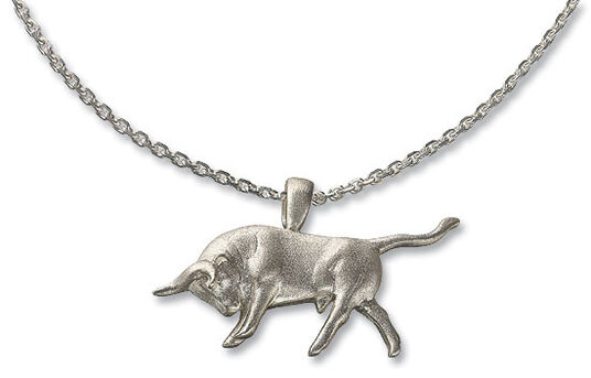"Kurt Arentz: Necklace ""Attacking bull"" silver edition"