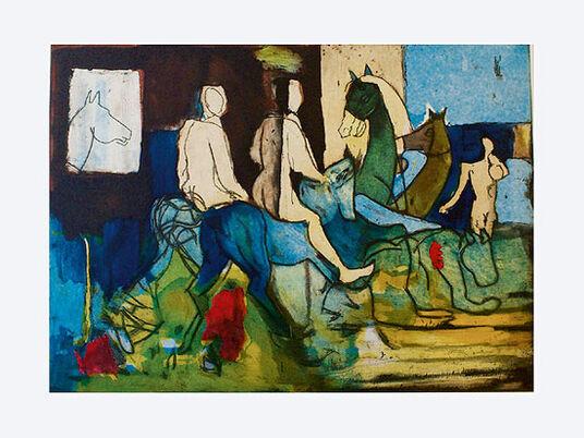 """Armin Mueller-Stahl: Bild """"Castor und Pollux"""" (2012), ungerahmt"""