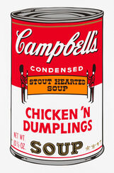 "Bild ""Warhols Sunday B. Morning - Campbell´s Soup - Chicken ´n Dumplings"" (1980er Jahre)"
