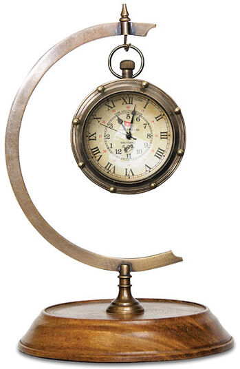 Victorian table clock with a stand