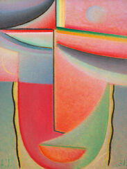 """Bild """"Abstrakter Kopf"""" (um 1920)"""