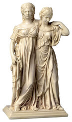 "Sculpture ""Luise and Friederike"" (original size), artificial marble"