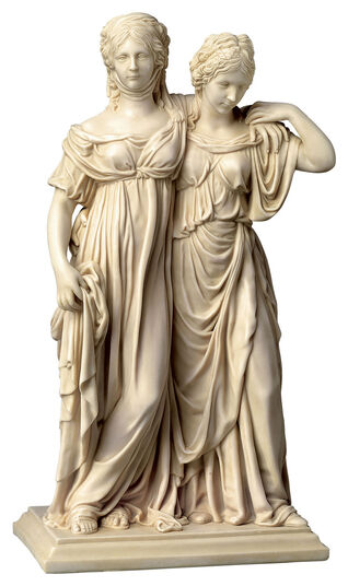 "Johann Gottfried Schadow: Sculpture ""Luise and Friederike"" (original size), artificial marble"
