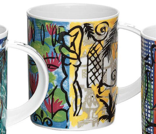 """Stefan Szczesny: Coffee Mug """"Lily in a Pond"""", Porcelain"""