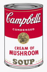 "Bild ""Warhols Sunday B. Morning - Campbell´s Soup - Cream of Mushroom"" (1980er Jahre)"