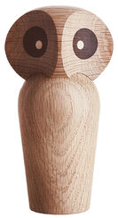 "Wood Sculpture ""Owl Natural Colors"" (Small, Height 12 cm)"