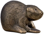 "Sculpture ""Benny the Beaver"" (2011), bronze"