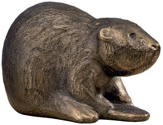 "Antje Michael: Sculpture ""Benny the Beaver"" (2011), bronze"