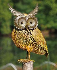 """Garden Sculpture / Wind Light """"Owl"""""""