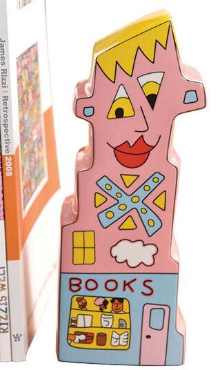 "James Rizzi: Buchstütze ""Books to my Right"", Porzellan"