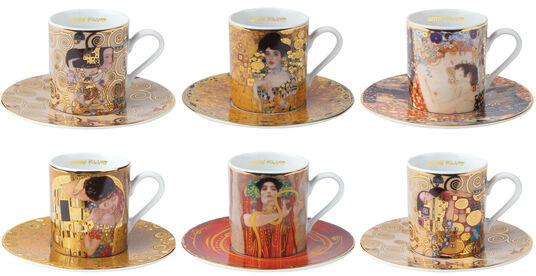 Gustav Klimt: 6er-Set Espressotassen mit Künstlermotiven