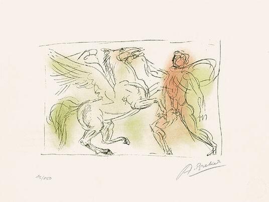 """Arno Breker: Bild """"Pegasus"""" (1983)"""