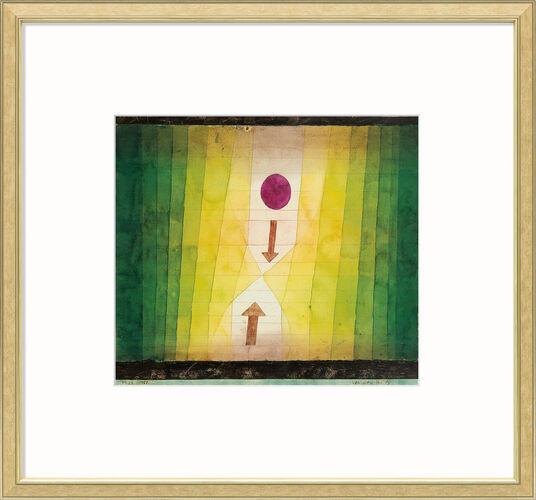 "Paul Klee: Bild ""Vor dem Blitz"" (1923), gerahmt"