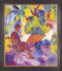 "Painting ""Pair at a Garden Table"" (1914)"