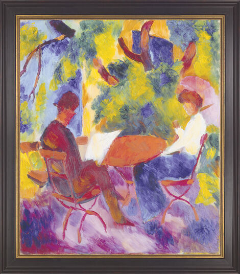 "August Macke: Painting ""Pair at a Garden Table"" (1914)"
