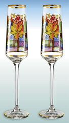"""2 Champagnerkelche """"Seerose"""" im Set - nach Louis C. Tiffany"""