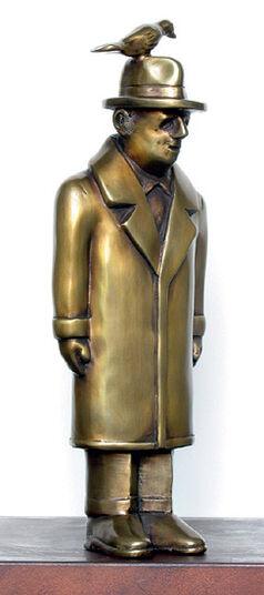 "Siegfried Neuenhausen: Sculpture ""The Man with the Bird"", Bronze"