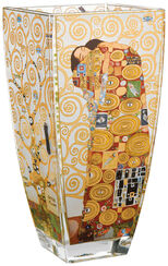 "Glass Vase ""The Fulfilment"" with Gold Deco"