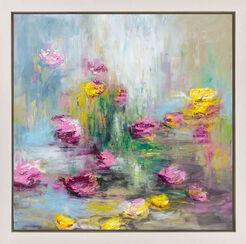 "Bild ""Blüten am Fluss III"" (2016) (Unikat)"