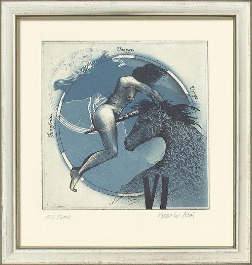 "Bodo W. Klös: Painting ""Virgo"" (24.8.-23.9.)"