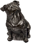"Sculpture ""Pug (black)"" (2008), plastic"
