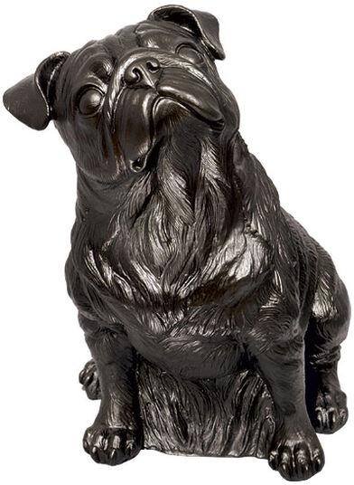 """Ottmar Hörl: Skulptur """"Mops (schwarz)"""" (2008), Kunststoff"""