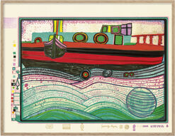 "Painting ""Regentag on waves of Love"" (1971/72) Sheet 8 from The Folder ""Regentag"""