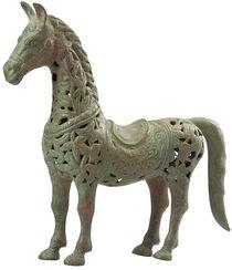 "Skulptur ""Pferd"", Bronze Antikfinish"