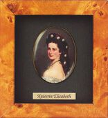 Miniature portrait of Empress Elisabeth of Austria-Hungary (1837-1898)