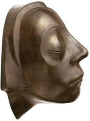 "Wall object ""Head of the Gustrow Memorial"", reduction in bronze"