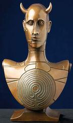 """""""Bust of Minotaur"""" (2009), bronze"""