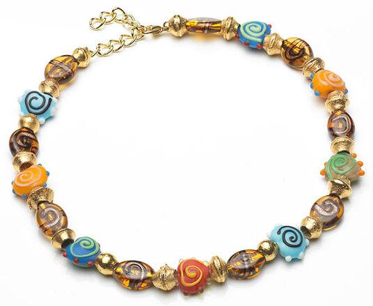 "Petra Waszak: Necklace ""African Pearl"""