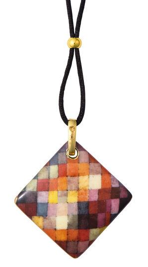 "Paul Klee: Porzellan-Anhänger ""Harmony"" mit Stoffband"