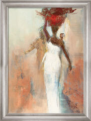 "Bild ""Silhouettes Africaines"", gerahmt"