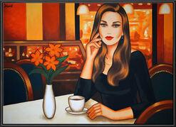 """Bild """"Le grande Café"""" (Original / Unikat), gerahmt"""