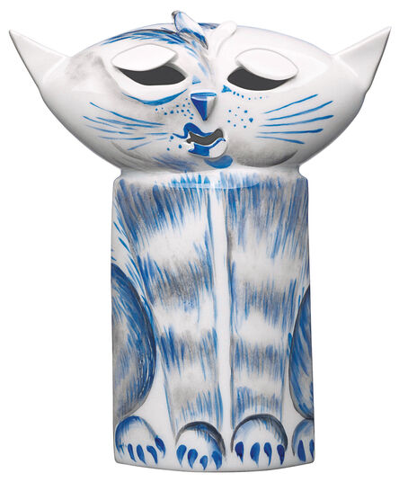 "Peter Strang: Sculpture ""Cat"", Porcelain"