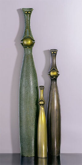 """Paul Wunderlich: Sculptural group """"The Family"""", Bronze"""